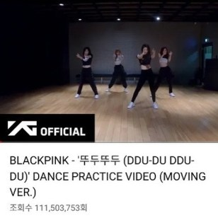2-blackpink ddu du ddu du dance practice 100 million views