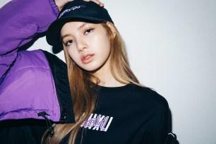 21-BLACKPINK Lisa X-girl Japan Nonagon Collaboration