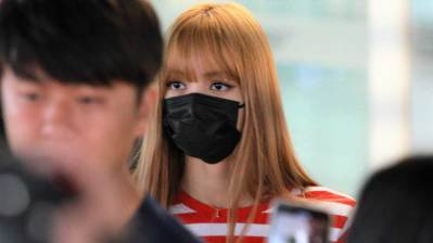 22-BLACKPINK Lisa Airport Photo Incheon Seoul From New York
