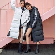 3-BLACKPINK ADIDAS Winter Outfit Long Padded Jackets