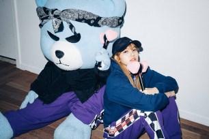 50-BLACKPINK Lisa X-girl Japan Nonagon Collaboration