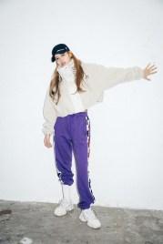 56-BLACKPINK Lisa X-girl Japan Nonagon Collaboration