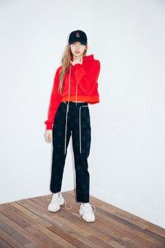6-BLACKPINK Lisa X-girl Japan 2nd Nonagon Collaboration