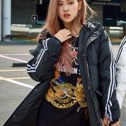 BLACKPINK Rose Adidas Long Padded Coats