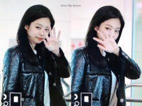 73-BLACKPINK Jennie Airport Photos Incheon to Paris Fashion Week