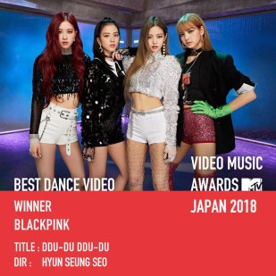 BLACKPINK WINS BEST DANCE-MTV-VMA-JAPAN-2018