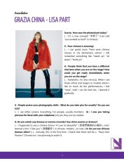 1-English Translation BLACKPINK Lisa Interview GRAZIA China