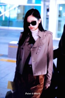 67-BLACKPINK Jennie Airport Photo 4 October 2018 from Paris
