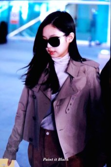68-BLACKPINK Jennie Airport Photo 4 October 2018 from Paris