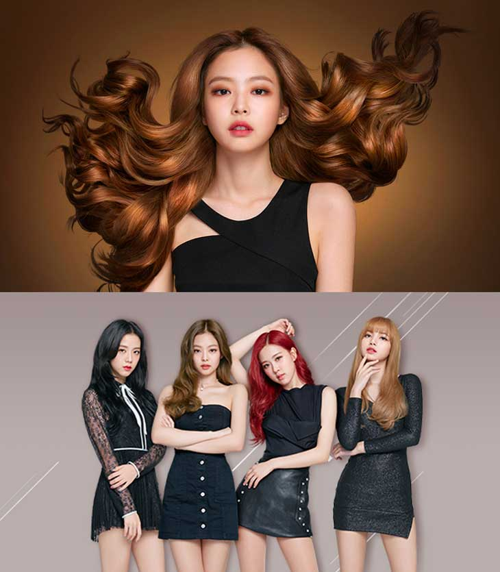 cover,BLACKPINK,Jennie,mise,en,scéne,korea,hair,color,brand