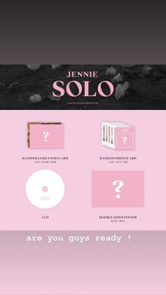 1-BLACKPINK Jennie Instagram Story 5 November 2018 SOLO Photobook