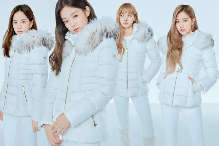 7-HQ-BLACKPINK GUESS Winter Coat Jacket Collection