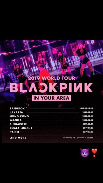 BLACKPINK Jisoo Instagram Story 1 November 2018 World Tour