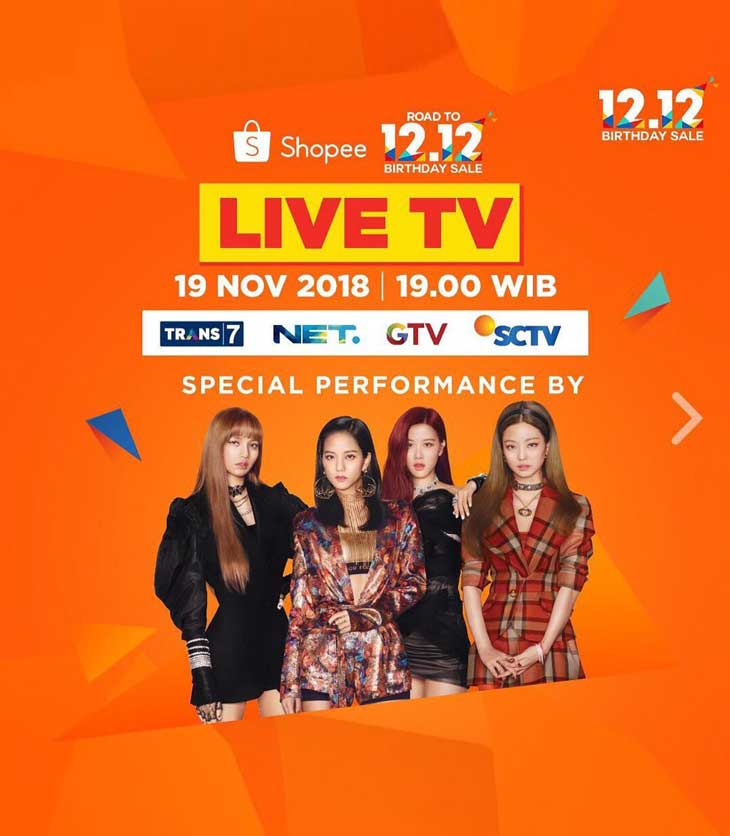 Live Streaming Link BLACKPINK Performance at Shopee Indonesia Event