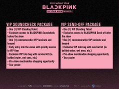 VIP Ticket BLACKPINK concert manila Philippines