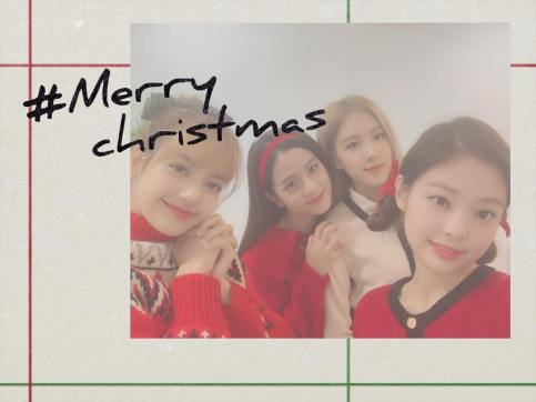 5-BLACKPINK Merry Christmas Message Instagram