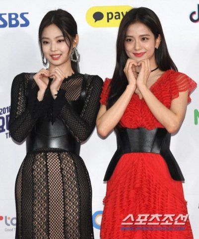 9-BLACKPINK Jensoo SBS Gayo Daejun 2018 Red Carpet