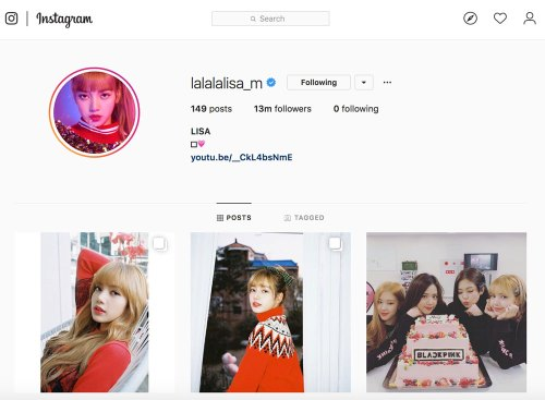 Lisa is Now The Most-Followed Female Celebrity In Korea On Instagram