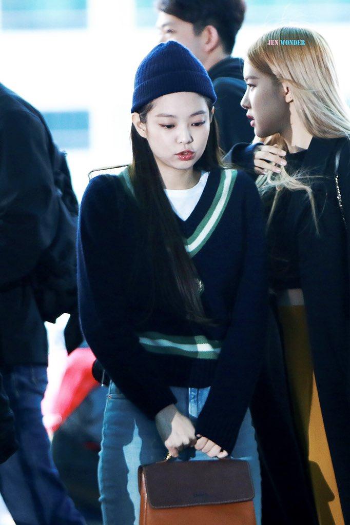 2 BLACKPINK Jennie Airport Photo Incheon To Manila Philippines Fansite