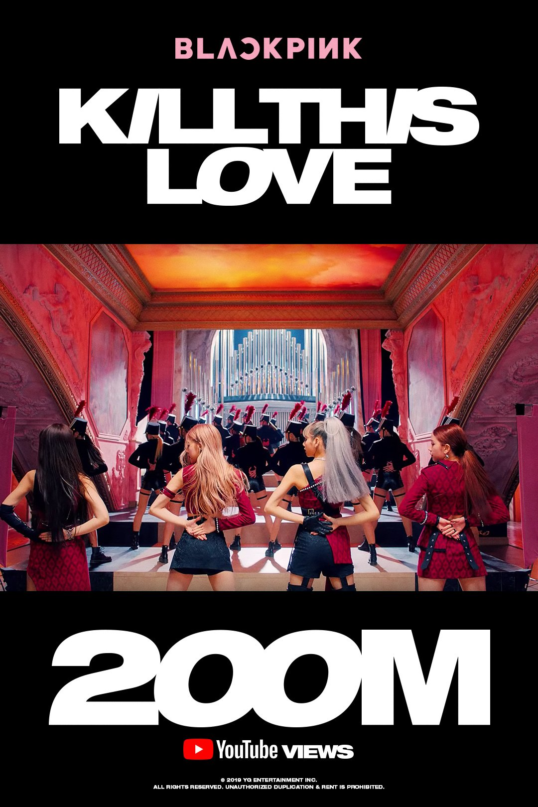 BLACKPINK 'Kill This Love' Becomes The Fastest K-Pop MV to Reach 200