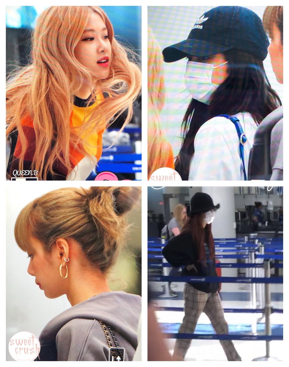 BLACKPINK Airport Photos from LA to Chicago for 2019 World Tour