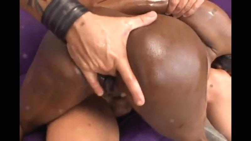 Ebony Anal Threesome Swallow
