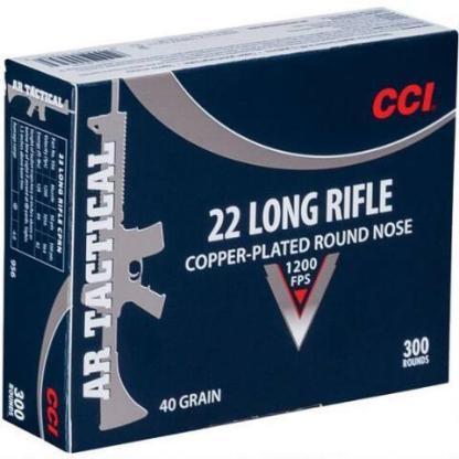 CCI Tactical .22 LR 40 Grain Copper Plated Nose 300 Round Box