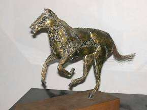 Personal sculpture. Bronze and steel.