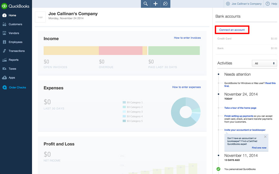 QuickBooks Online: How to Connect Bank & Download Data