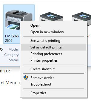 QuickBooks POS Error: There is no default printer currently