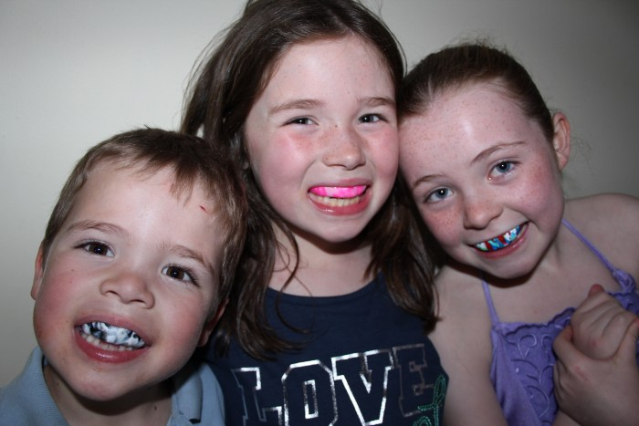 Kids with mouthguards