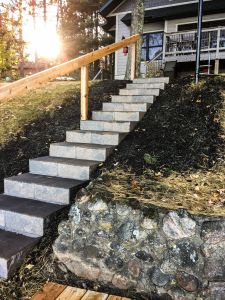 custom block stairs