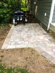 small paver patio