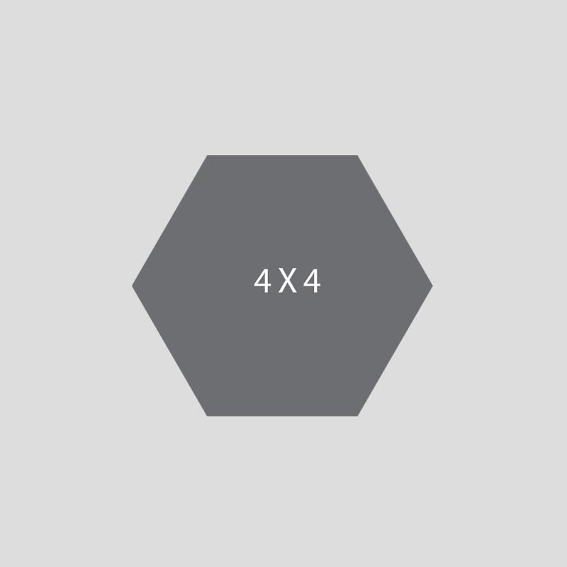 4 x 4 hexagon tile