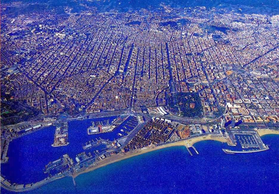 Ariel photo of Barcelona.