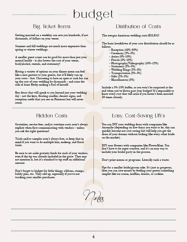 Elopement and wedding planning budget guide