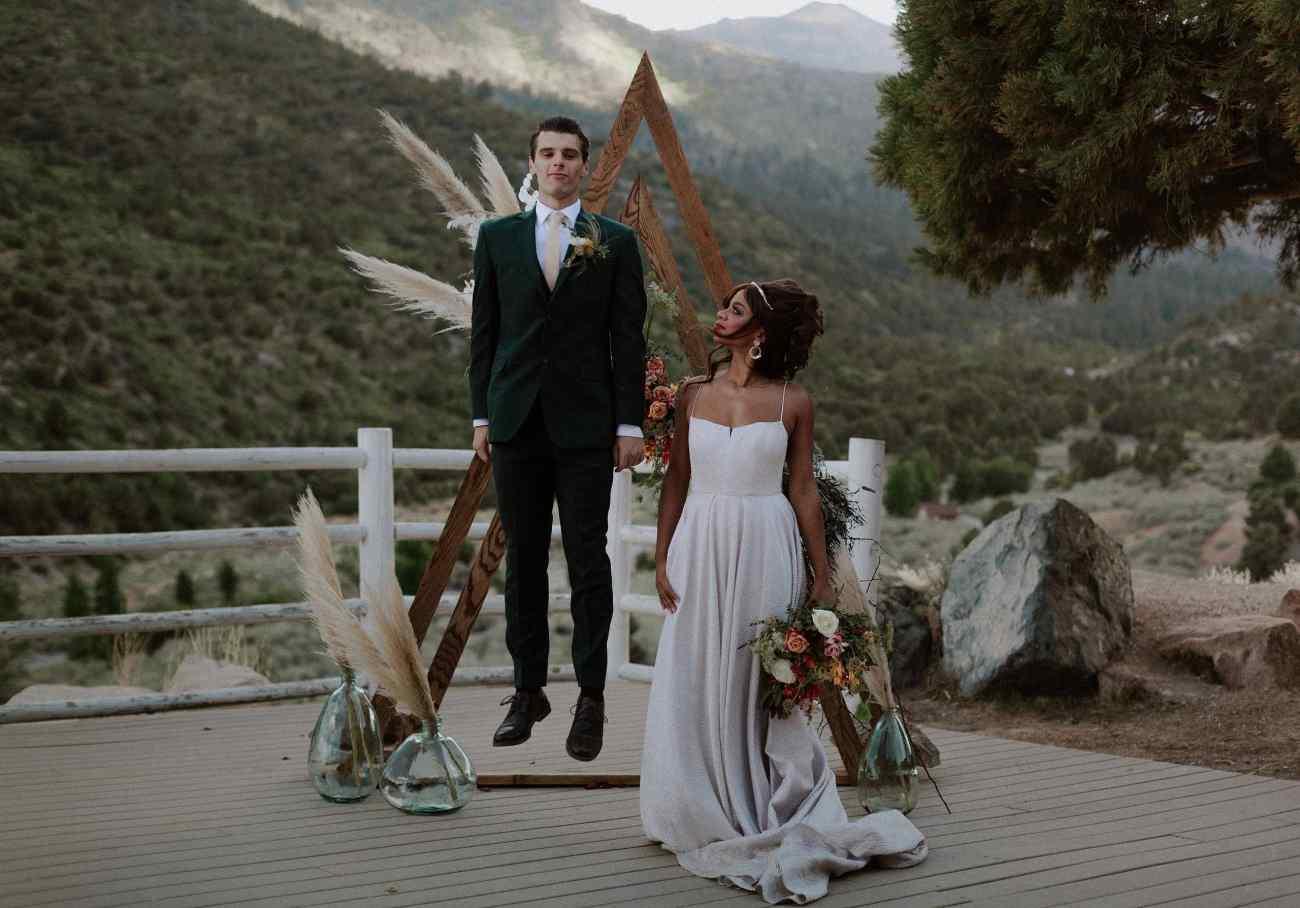 Mt Charleston Las Vegas Elopement Photographer groom jumping