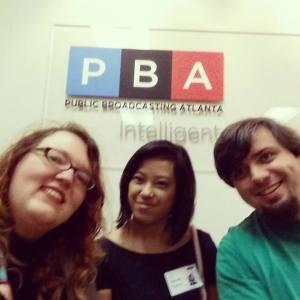 #teamkamikaze after their NPR/ PBA interview, L-R/ Carrie Tupper, Havana Nguyen, Alan Tupper
