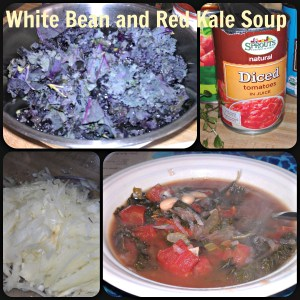 White Bean and Red Kale Soup vegan recipe