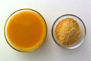 The vegg in dry form and mixed form