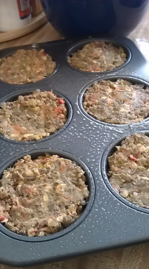 lentil walnut loaf ready to go into the oven