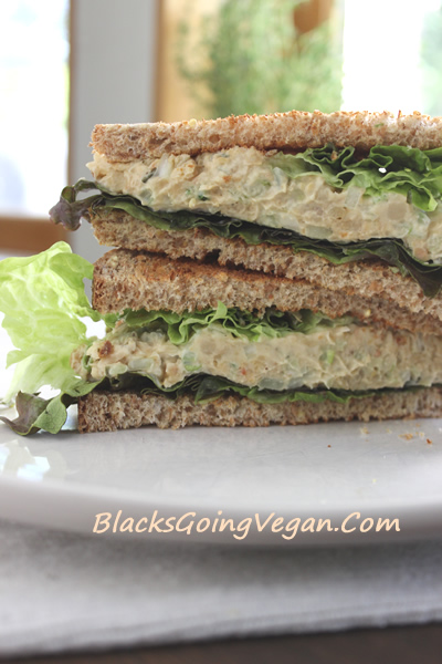 chickpea tuna salad vegan mock tuna salad sandwich recipe