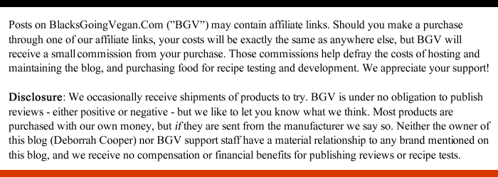 FTC disclosure for blacksgoingvegan.com