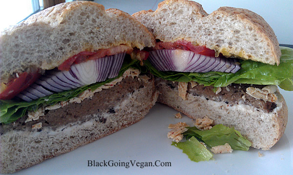 vegan hamburger recipe - veggie burger recipe - seitan burger recipe