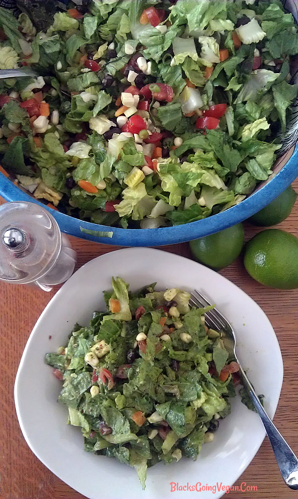 southwestern chopped salad vegan gluten free