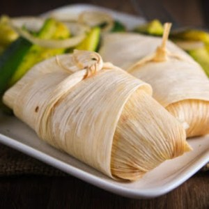 roasted green chiles and corn tamales