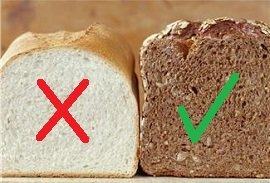 do not eat white bread