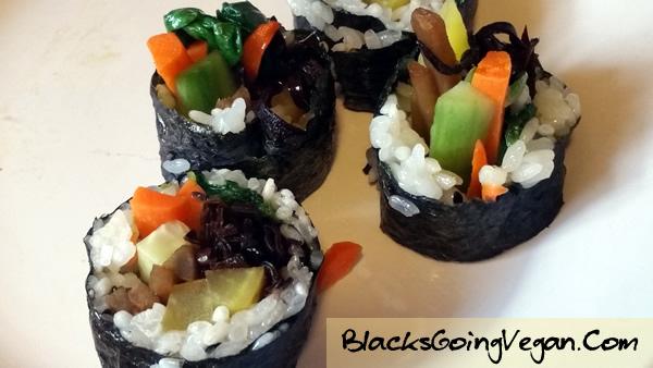 Vegan Kimbap BlacksGoingVegan10