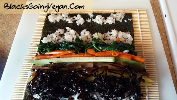 Vegan Kimbap BlacksGoingVegan2