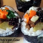 vegan kimbap recipe by Deborrah Cooper of BlacksGoingVegan.Com